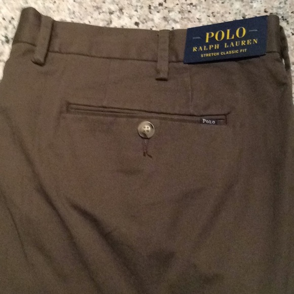 Polo Ralph Lauren Spring Green Classic Fit Flat Front Cotton Pants NWT